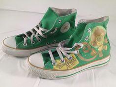 475bdca0c4df CONVERSE Chuck Taylor All Star Space Age Monkey Green Sneaker Men Sz4 Women  Sz6  Converse  Athletic