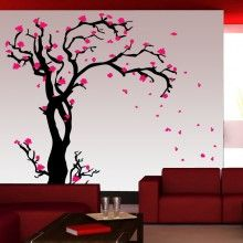 Cherry Blossom Tree Multi-Color Wall Decal Kit 01 room