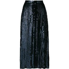 Temperley London Heart Charm skirt ($1,540) ❤ liked on Polyvore featuring skirts, black, metallic skirt, embroidered skirt, mid length skirts, back zipper skirt and sequin skirt