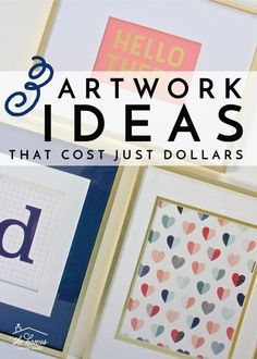 Need some quick and budget-friendly artwork solutions? These 2 inexpensive artwork ideas cost just a few dollars and can be done in mere minutes! Diy Artwork, Artwork Ideas, Cute Home Decor, Cheap Home Decor, Light Fixtures Bathroom Vanity, Wooden Clothespins, Fun Projects, Colorful Rugs, Decorative Items