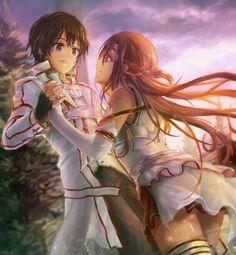 Asuna y Kirito Kun Kirito Asuna, Kirito Kirigaya, Manga Art, Manga Anime, Sao Anime, Sword Art Online Wallpaper, Sword Art Online Kirito, Vampire Knight, Cute Anime Couples