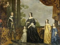 Gerard van Honthorst, Portrait of Frederik Hendrik prince of Orange with his wife Amalia van Solms and their three youngest doughters Albertina Agnes Henrietta Catharina and Maria 1647 - Rijksmuseum Amsterdam Nassau, Rembrandt, Utrecht, Friedrich Wilhelm I, Prince Of Orange, Frederick William, Prince Frederick, La Haye, Orange Art