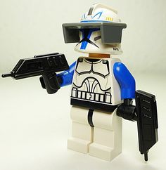 LEGO Star Wars Figur Captain Rex - Clone Wars - o.Pauldron Custom Handblaster: Amazon.de: Spielzeug