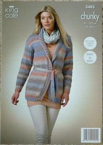 knitting pattern -  Ladies Jacket Riot Chunky