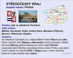 STŘEDOČESKÝ KRAJ :: Béčko-Tc Czech Republic, Teen, Travel, Geography, School, Viajes, Destinations, Traveling, Trips