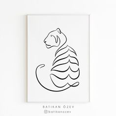 Tiger Drawing, Tiger Art, Outline Drawings, Easy Drawings, Wild Life, Tiger Outline, Minimal Tattoo Design, Tiger Design, Typography Poster Design