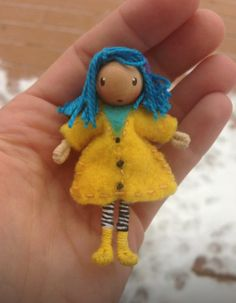 Tim Burton inspired Coraline waldorf inspired bendy doll http://www.etsy.com/shop/ACuriousTwirl  By: A Curious Twirl