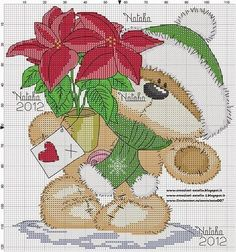 Cross Stitch Craze: Fizzy Moon Bear - Christmas - Free Patterns