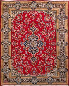 "Kerman Persian Rug, Buy Handmade Kerman Persian Rug 9' 8"" x 12' 10"", Authentic Persian Rug"
