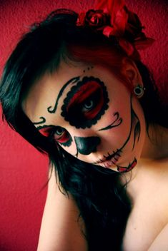Proabably the sugar skull makeup I am going to do