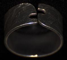 abierta 2 Heart Ring, Rings For Men, Jewelry, Silver, Jewelery, Men Rings, Jewlery, Jewels, Jewerly