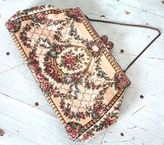Vintage 1950's Purse // 40s 50s Floral by TrueValueVintage on Etsy