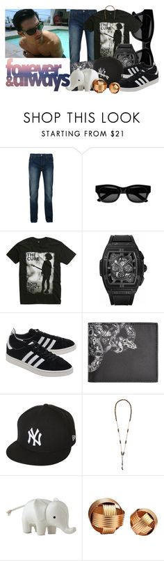 """Don't Give Up On Me"" by sweetserenade ❤ liked on Polyvore featuring Bellfield, Sun Buddies, Hot Topic, Hublot, adidas Originals, County Of Milan, New Era, Cantini MC Firenze, Serena & Lily and Moe's"