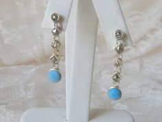 Vintage Silver Turquoise and Marcasite Dangle by AntiquesduJour, $30.00