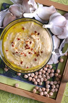 Roasted Garlic and Sriracha Hummus - 12 Incredibly Delicious (and Vegan) Recipes You Can Bring to a Party - ChooseVeg.com