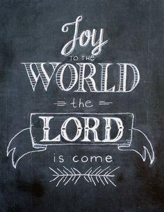 Vreugde aan de wereldschoolbord art printChristmas