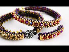 DIY Elegant Narrow Bracelet – Free Video Tutorial with Round Beads & Round Seed … - DIY Schmuck Seed Bead Bracelets, Seed Bead Jewelry, Silver Bracelets, Seed Beads, Charm Bracelets, Fashion Beads, Fashion Bracelets, Diy Fashion, Beaded Bracelet Patterns