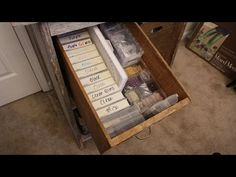 Repurpose old VHS cases into Sturdy Bead Storage - YouTube