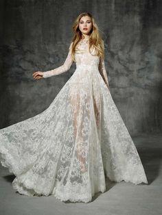 Yolan Cris Wedding Dresses 2016 Part II Lace Wedding Dress With Sleeves, Bridal Wedding Dresses, Ivory Wedding, Gypsy Wedding, Wedding Dressses, Lace Sleeves, Wedding Bride, Ian Stuart, Marie