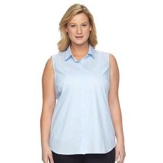 Plus+Size+Apt.+9+Structured+Shirt