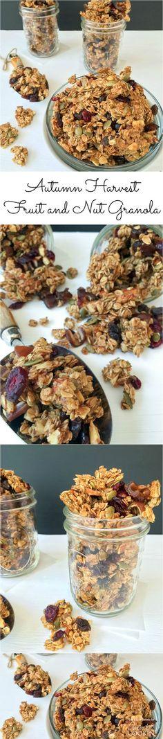 Autumn Harvest Fruit and Nut Granola