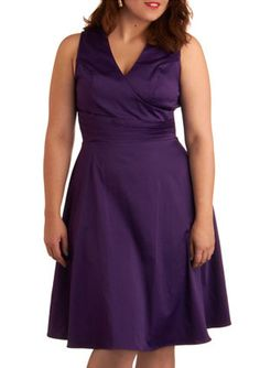 This dress from ModCloth looks good on every figure, especially a pear shape/spoon shape! The wrap top and nipped in waist are perfectly flattering and the a-line skirt is always an ideal choice for your figure. we think you will look good from every angle in this dress.