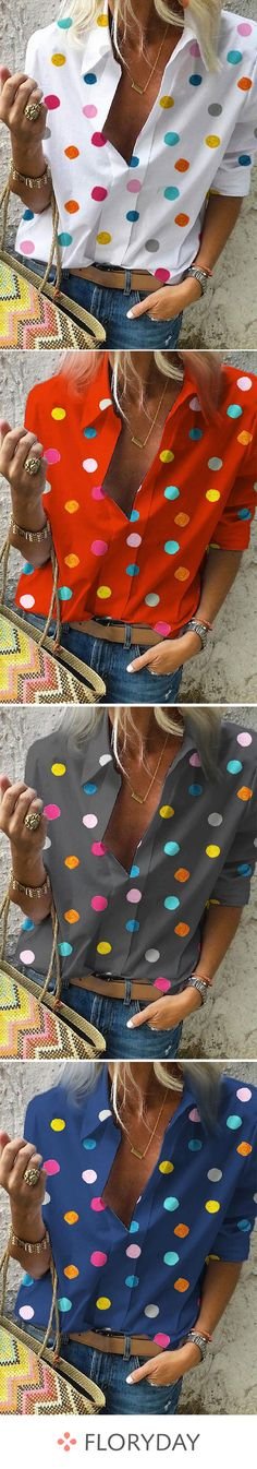 French Fashion Tips Polka dot casual collar half sleeve blouses lovely stylish outfits.French Fashion Tips Polka dot casual collar half sleeve blouses lovely stylish outfits. Look Fashion, Fashion Outfits, Fashion Tips, Converse Fashion, Mens Fashion, French Fashion, Fashion Bloggers, Diy Fashion, Style Me