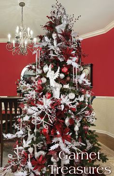 Melrose Designer Christmas Tree 2013: Garnet Treasures