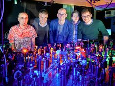 (from left) Frank Vewinger, Martin Weitz, David Dung, Erik Busley and Christian Kurtscheid in the laboratory of the Institute of Applied Physics at the University of Bonn. Credit: (c) Volker Lannert/Uni Bonn Bose, Einstein, Condensed Matter Physics, Physics Research, Communication Process, Theoretical Physics, Weird Science, Physicist