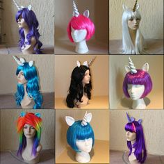 My Little Pony Wigs & Tails....how cute!