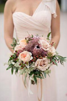 Dusty Rose Wedding Ideas - Bridal Bouquet - Kristen Weaver Photography