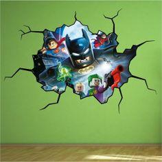 Lego Batman Vinyl Wall Mural Decal Sticker Star Wars #3M #CartoonInspired