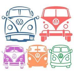 VW Volkswagen Bus Van SVG Cuttable Designs