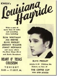 Louisiana Hayride concert poster,April 23,1955