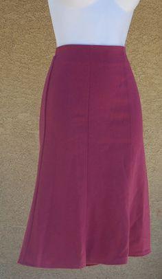 Berry A-line Skirt Rockabilly Retro Pinup Career Fashion Separates #skirts