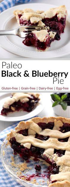 Paleo Black and Blueberry Pie - * Paleo oder so - Blueberry Recipes Pie Recipes, Gluten Free Recipes, Real Food Recipes, Yummy Food, Yummy Eats, Sweet Recipes, Tasty, Paleo Dessert, Pastries