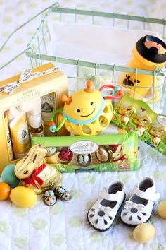 Lindt Themed Easter Basket for the Mother-to-Bee!