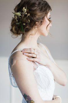 bride with tattoos - photo by Julia Elizabeth Photography http://ruffledblog.com/old-charm-new-york-wedding-inspiration