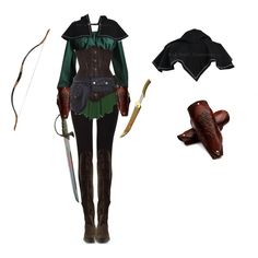 Elven Ranger Female by saradryden on Polyvore featuring Qupid, Costume, warrior, elf, renaissance and elven