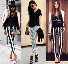 What to wear with black and white striped pants? Outfits and tips ...