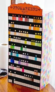 Storage for your markers by Lorraine.