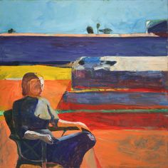 Title: Woman on Porch Artist: Richard Diebenkorn Region: USA Period: 1958 Material: oil on canvas Dimensions: 72 x 72 in. On view in the museum