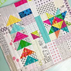 First finish of Owl Quilts, Baby Boy Quilts, Star Quilts, Scrappy Quilts, Mini Quilts, Quilt Blocks, Baby Quilt Patterns, Owl Patterns, Block Patterns