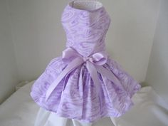 """Dog Dress  XS Lavender Marble  By Nina's Couture Closet """"Classic and Comfortable """""""