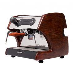 LUCCA A53 espresso machine in Bubinga from Clive Coffee