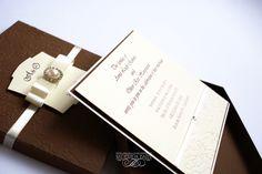 Nadezhda Baziv handmade wedding invitation