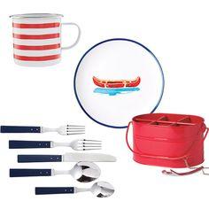 nautical vintage tableware