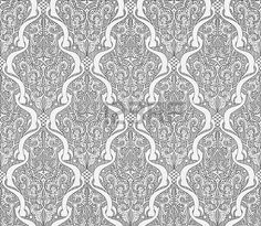 Seamlessly tilable repeating Art Nouveau style motif pattern
