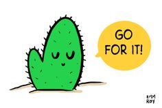 Motivational cactus