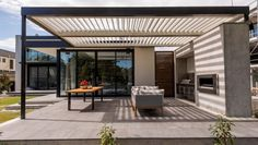 Sun in winter, shade in summer - this new house in Fendalton, Christchurch, designed by Wilson and Hill Architects, ...